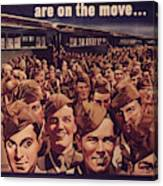 Vintage Poster - Is Your Trip Necessary? Canvas Print