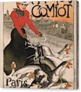 Vintage Poster - Motocycles Comiot Canvas Print