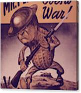 Wall art Reproduction. Mr Peanut goes to war vintage WW2 poster