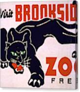 Visit Brookside Zoo Panther Vintage Print Art POSTER