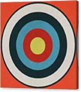 Vintage Target - Orange Canvas Print