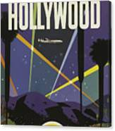 Vintage Travel Poster - Hollywood Canvas Print