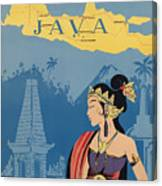 Vintage Travel Poster - Java Canvas Print