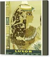 Vintage Travel Poster - Luxor, Egypt Canvas Print