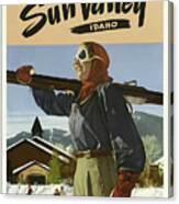 Vintage Travel Poster - Sun Valley, Idaho Canvas Print