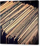Vinyl Records Canvas Print