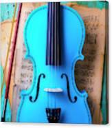 Violin Blues Canvas Print