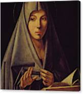Virgin Annunciate By Messina Canvas Print