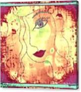 Visage De Lumiere Canvas Print