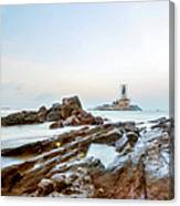 Vivekanandar Rock & Thiruvalluvar Canvas Print