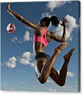 Volleyball Spike Canvas Print