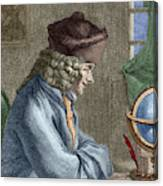 Voltaire In His Office In Vernay Canvas Print