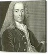 Voltaire Portrait, Engraving Canvas Print