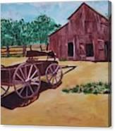 Wagons And Barns Canvas Print