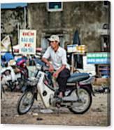 Waiting At The Fish Market, Hoi An, Vietnam Canvas Print
