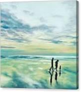 Walk At Sunset Canvas Print