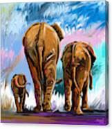 Walking Away Canvas Print