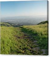 Walking Downhill Large Trail With Silicon Valley At The End Canvas Print