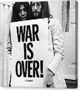 War Is Over Canvas Print
