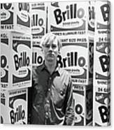 Warhol & Brillo Boxes At Stable Gallery Canvas Print