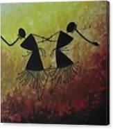 Warli Painting Canvas Print
