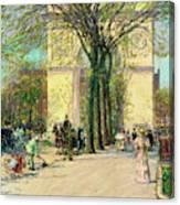 Washington Arch, Spring - Digital Remastered Edition Canvas Print