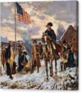 Washington At Valley Forge Canvas Print