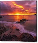 Washington Coast Sunset Serene Evening Canvas Print