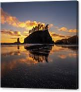 Washington Coast Weeping Lady Sunset Cloudscape Canvas Print