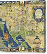 Washington D.c. - Pictorial, Vintage, Old Map