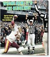 Washington Redskins Darryl Grant, 1983 Nfc Championship Sports Illustrated Cover Canvas Print