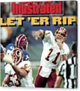 Washington Redskins Qb Mark Rypien, Super Bowl Xxvi Sports Illustrated Cover Canvas Print