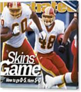 Washington Redskins Stephen Davis... Sports Illustrated Cover Canvas Print