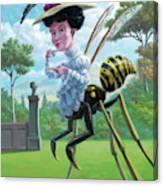 Wasp Woman Insect Drinking Tea Fantasy Canvas Print