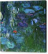 Water Lilies 1918 - Digital Remastered Edition Canvas Print