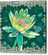 Water Lily And Lace Canvas Print