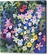 Watercolor - Alpine Wildflower Design Canvas Print