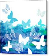 Watercolor Blue Background With Canvas Print