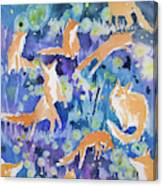 Watercolor - Fox And Firefly Design Canvas Print
