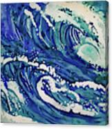 Watercolor - Ocean Wave Design Canvas Print