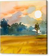 Watercolor  Painting Original Landscape Canvas Print