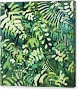 Watercolor - Rainforest Canopy Design Canvas Print
