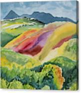 Watercolor - Wilson Mesa Landscape Impression Canvas Print