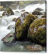 Waterfall, Bc, Canada Canvas Print