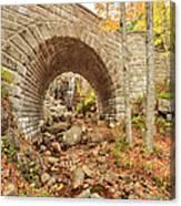Waterfall Bridge, Autumn, Acadia Canvas Print