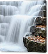 Waterfall Flowing Over Rock Stair Canvas Print