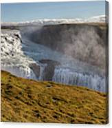 Waterfall Mist Of Iceland Canvas Print