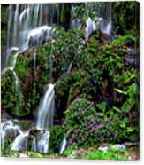 Waterfalls At Seven Star Park Canvas Print
