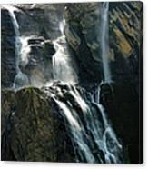 Waterfalls At The Cirque De Gavarnie Canvas Print