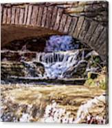 Waterfalls Through Stone Bridge Canvas Print